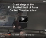 Grant sings at the Pro Football HOF